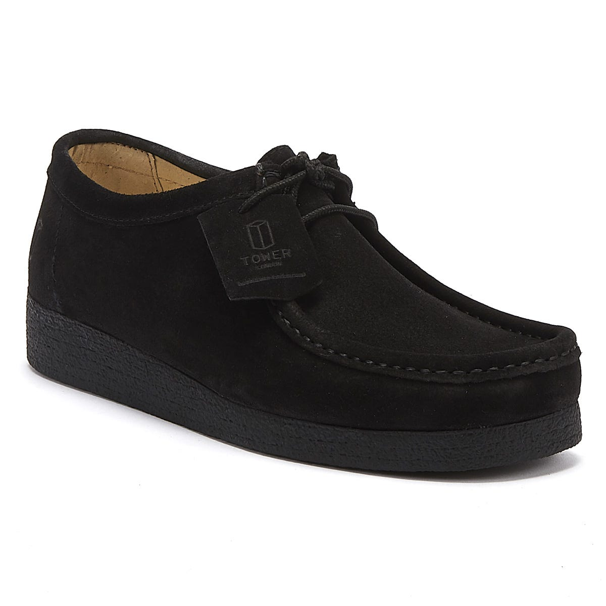 TOWER London Black Napa Suede Shoes
