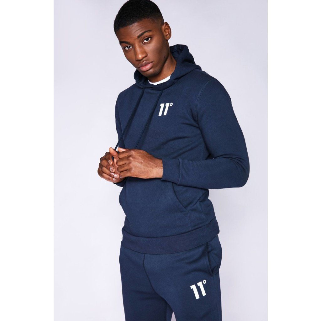 11 Degrees Core Pullover Hoodie - Navy L