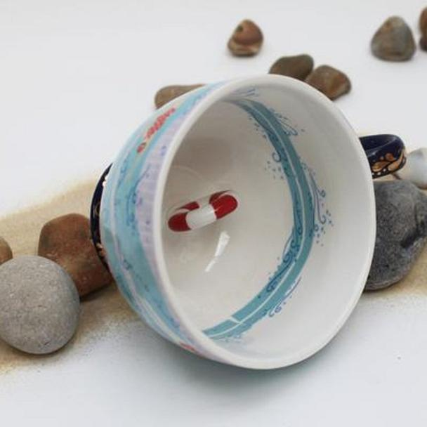Blue Swimmers Teacup With Gift Box