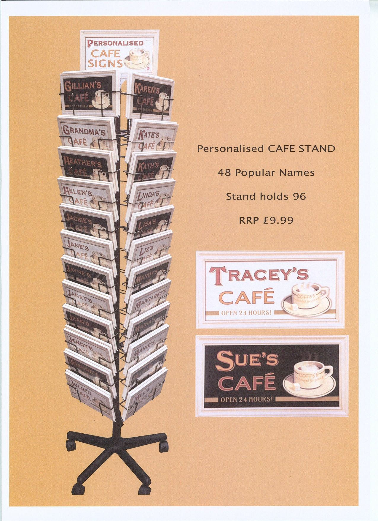 Personalised Cafe Signs