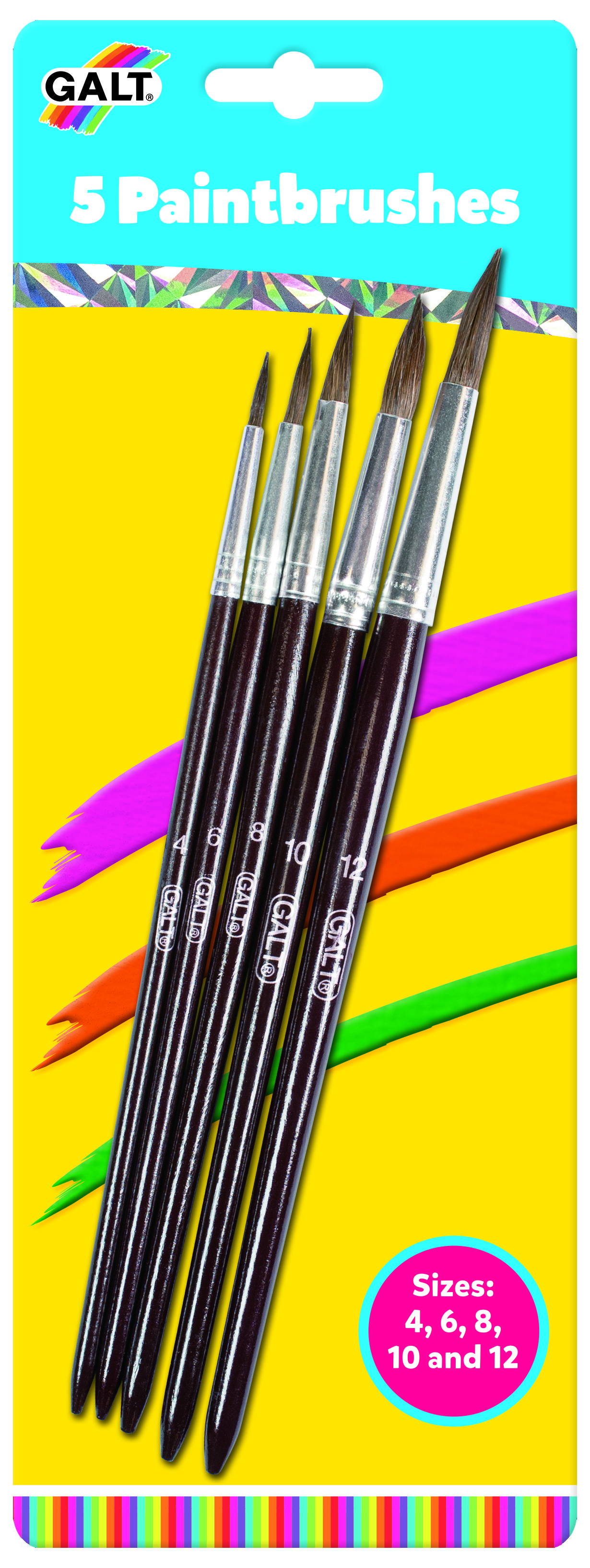 5 Paintbrushes by Galt