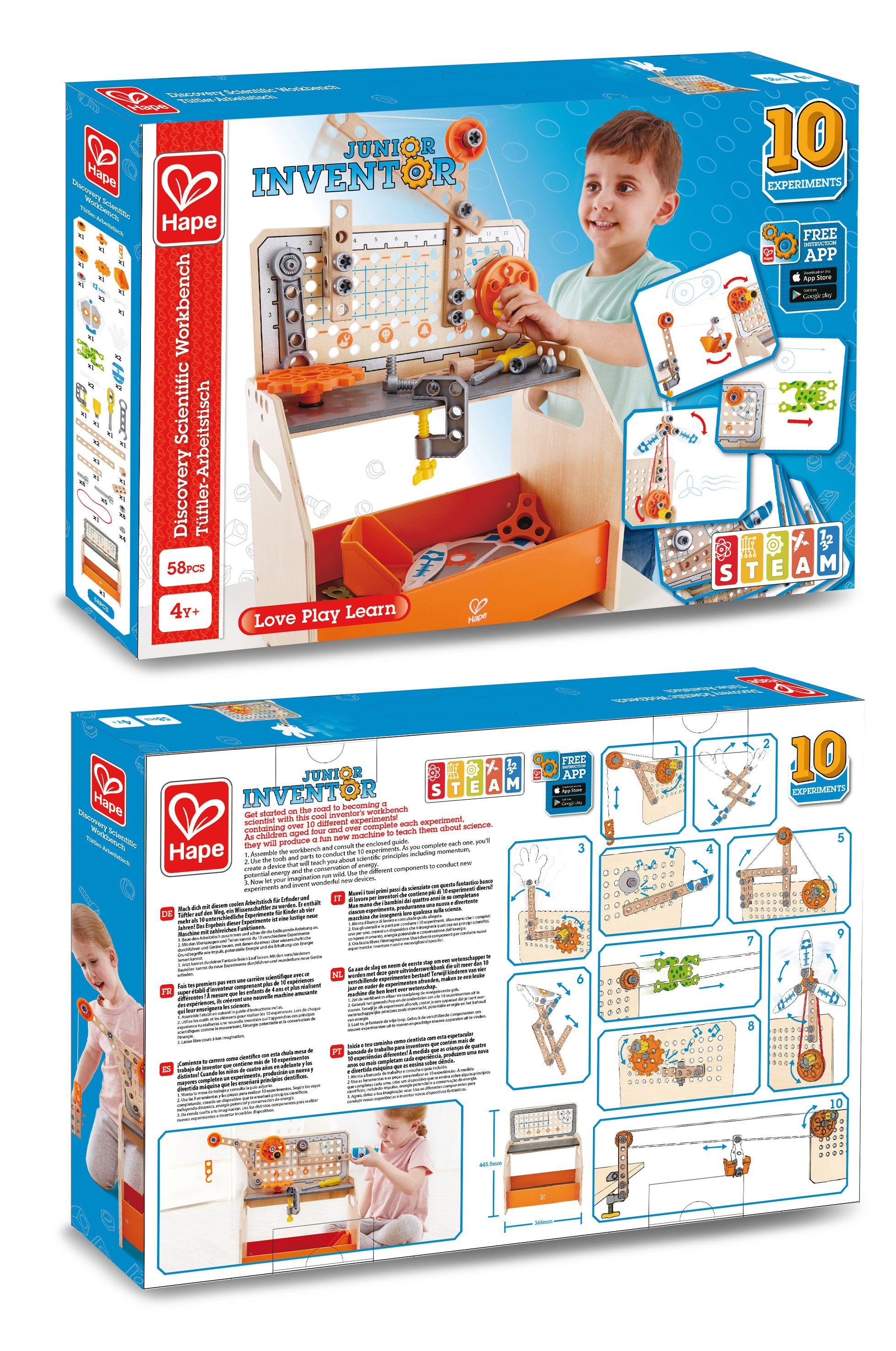 Junior Inventor Discovery Scientific Workbench by Hape
