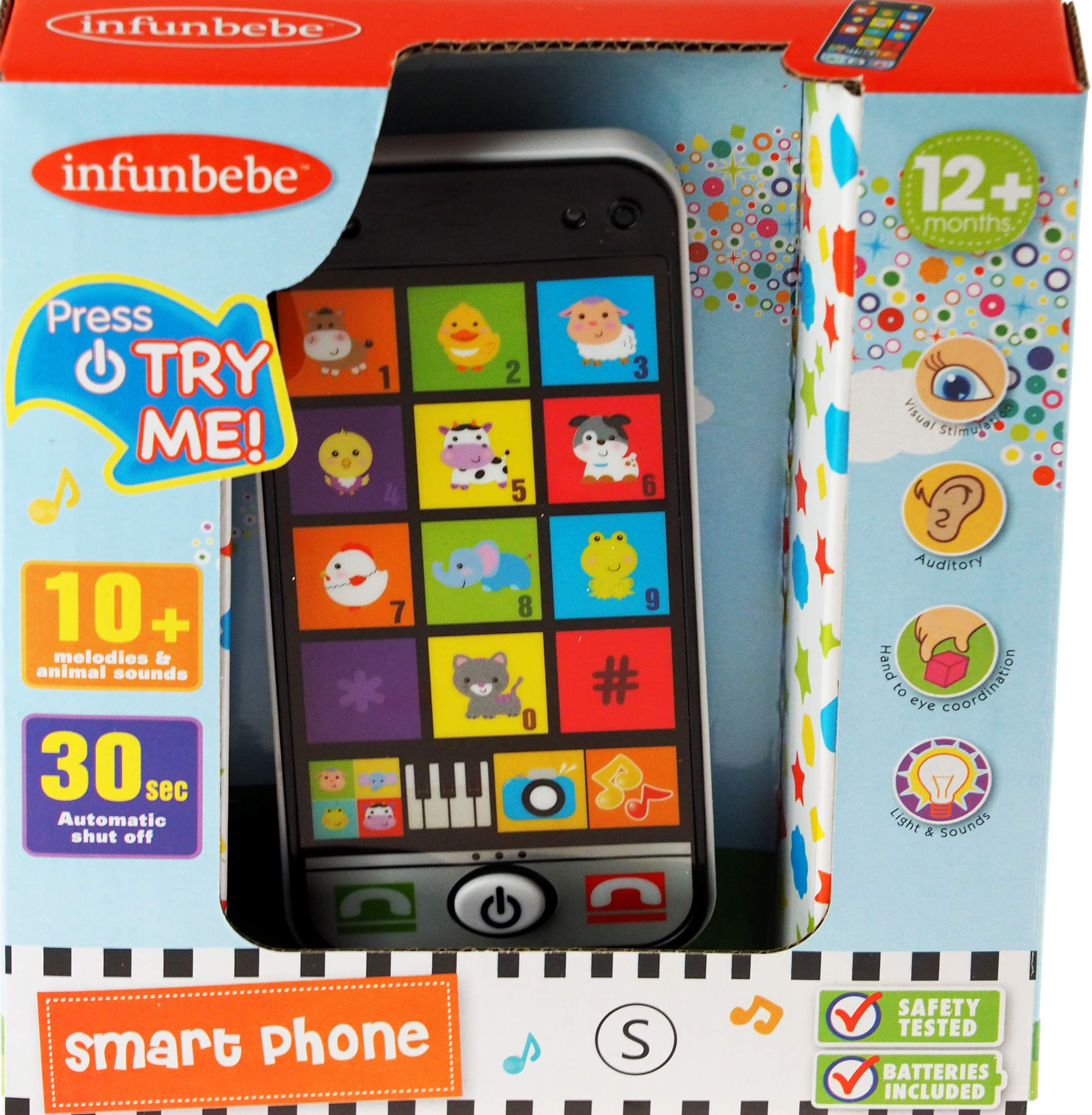 infunbebe Pretend Play Mobile Smart Phone Toy For Tots - 12 Months +