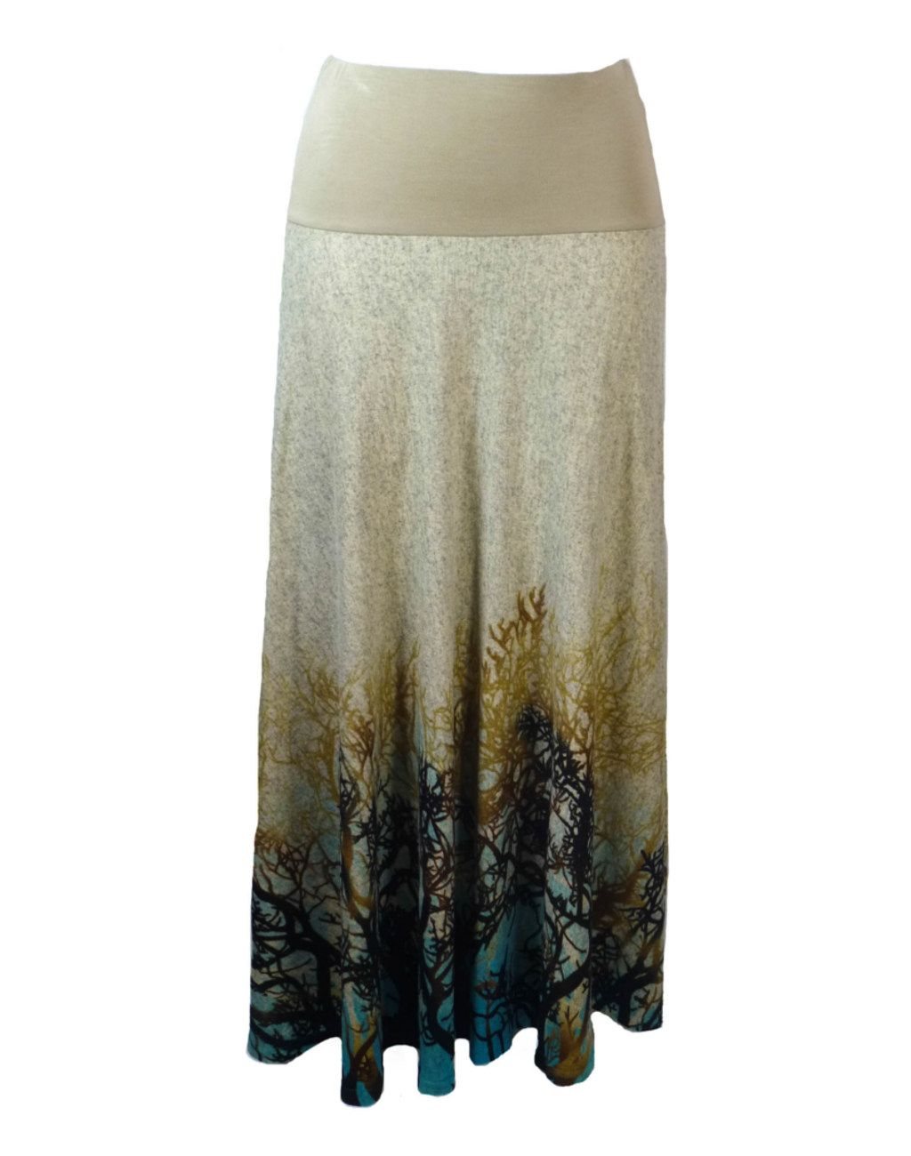 Mystical Forest Print Long Skirt M/L