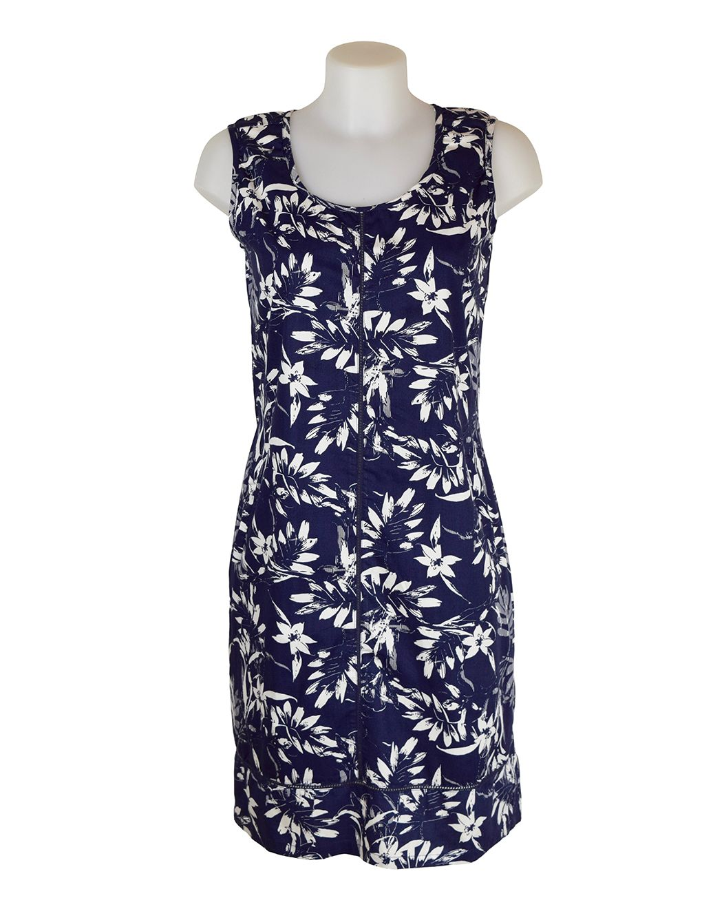 Alice Collins Harriet Navy Leaf Dress 18 XXL