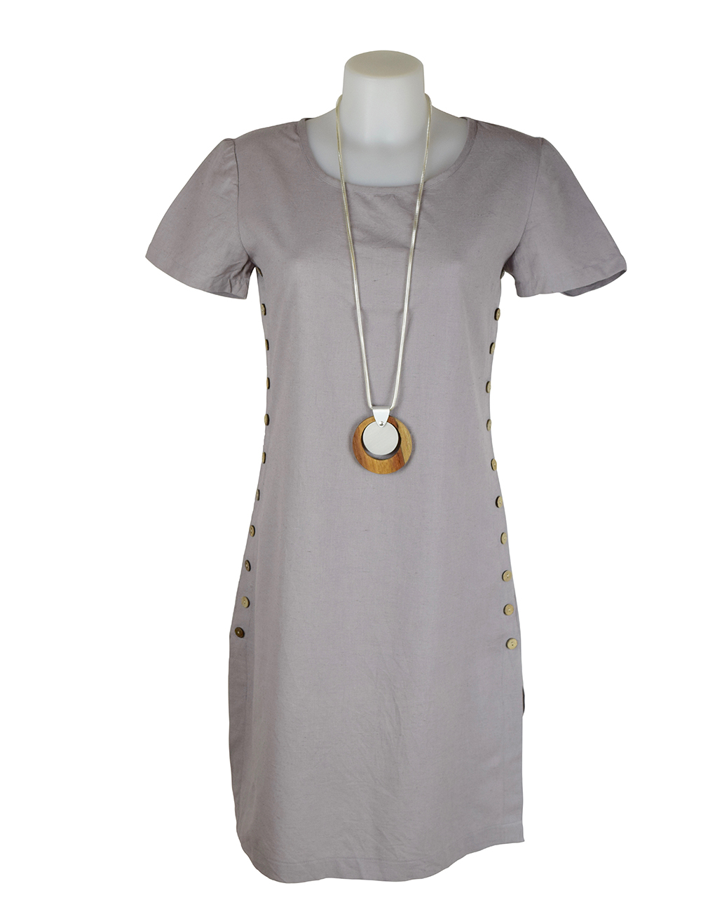 Alice Collins Kylie Dress Pewter 8 XS
