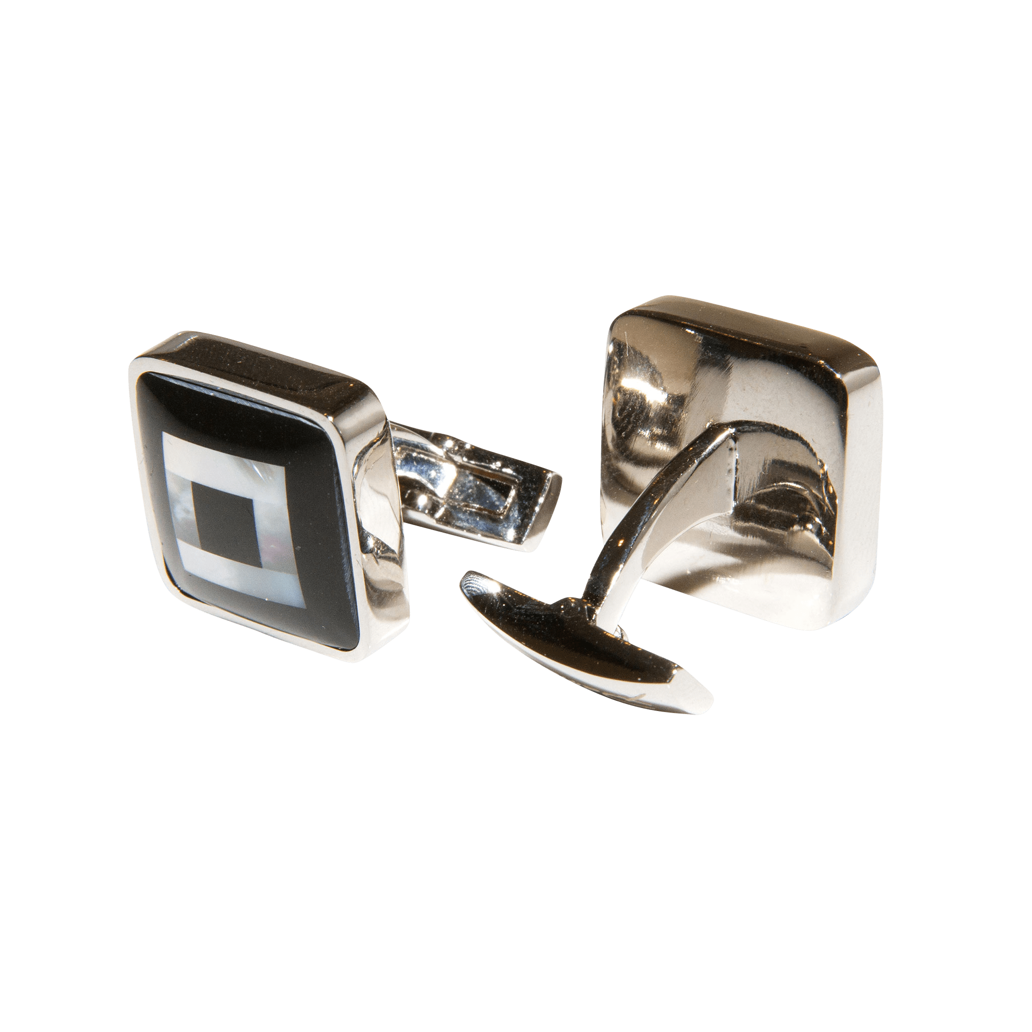 Santamaria Square Onyx and Mother of Pearl Cufflinks