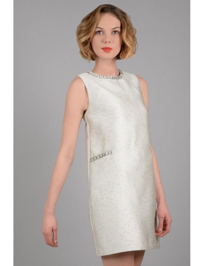 Dress with rhinestone details_ XL
