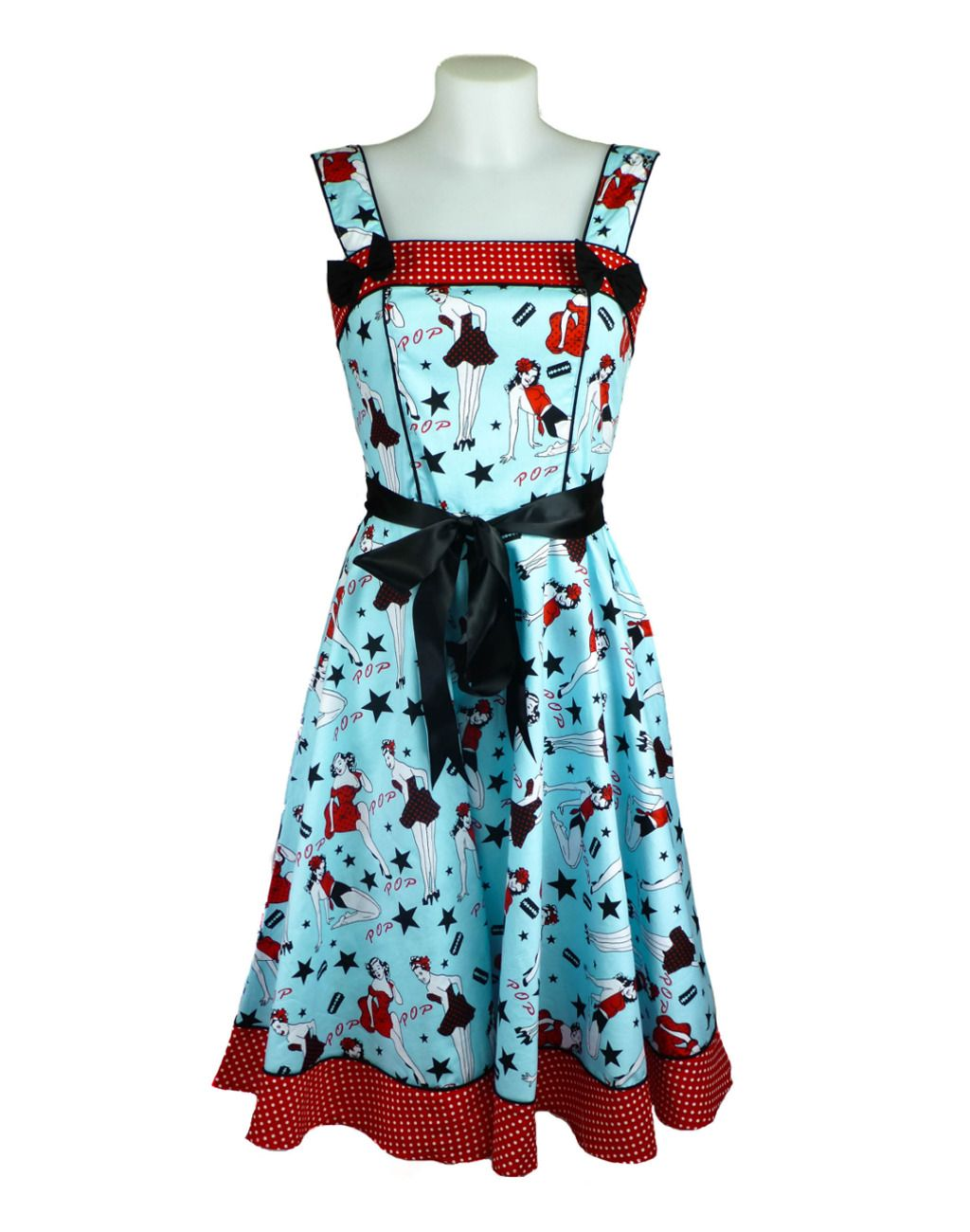 Hell Bunny Dixie Blue Dress