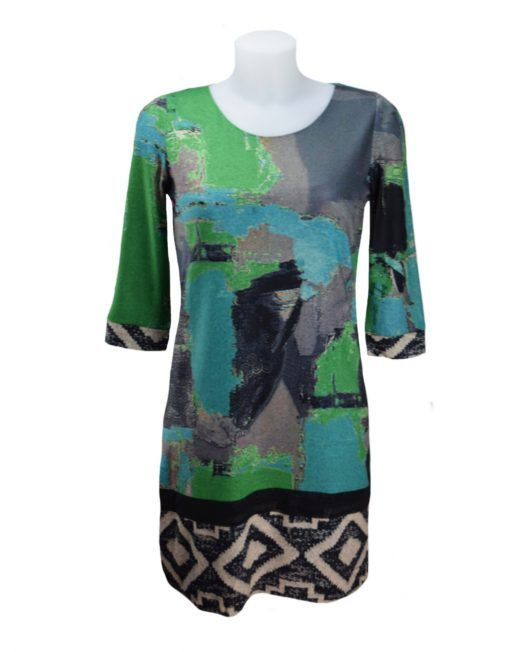 LULU-H Green and Turquoise Tunic Dress 14 XL