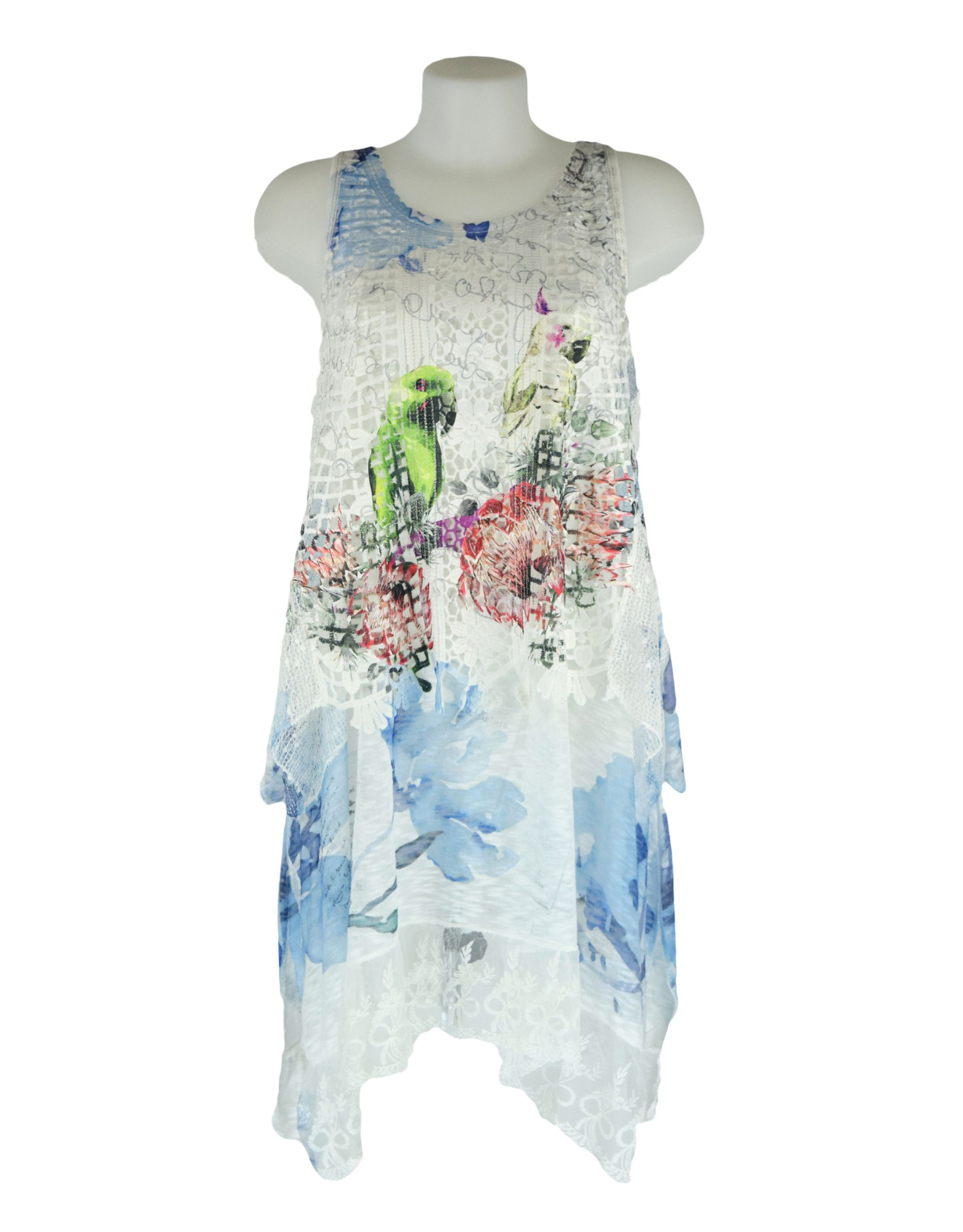 Giuliana Bird Print One Size Tunic