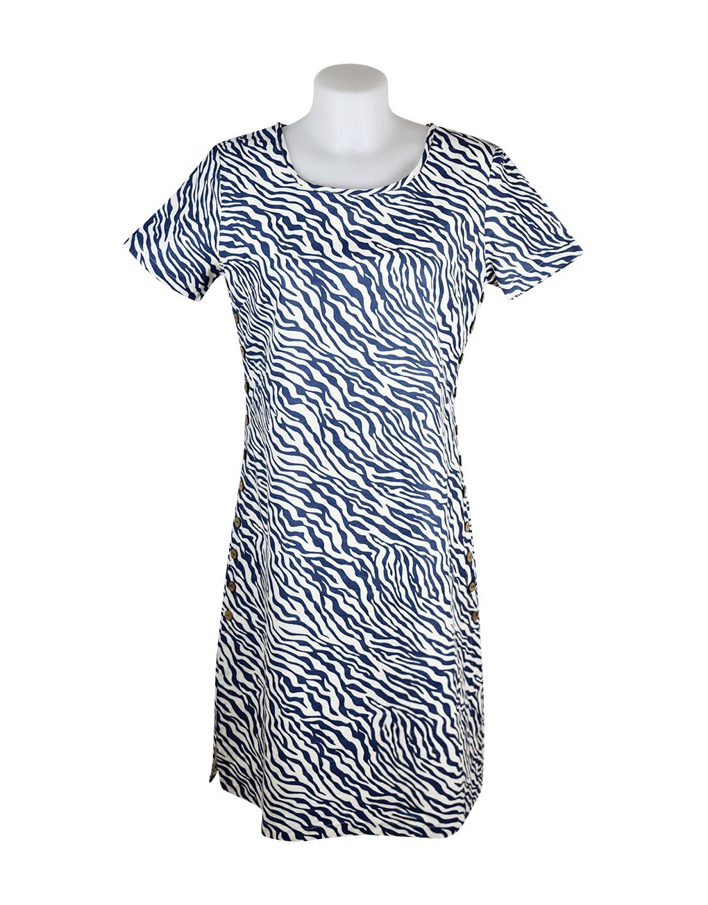 Alice Collins Kylie Dress Indigo Zebra 20 XXXL