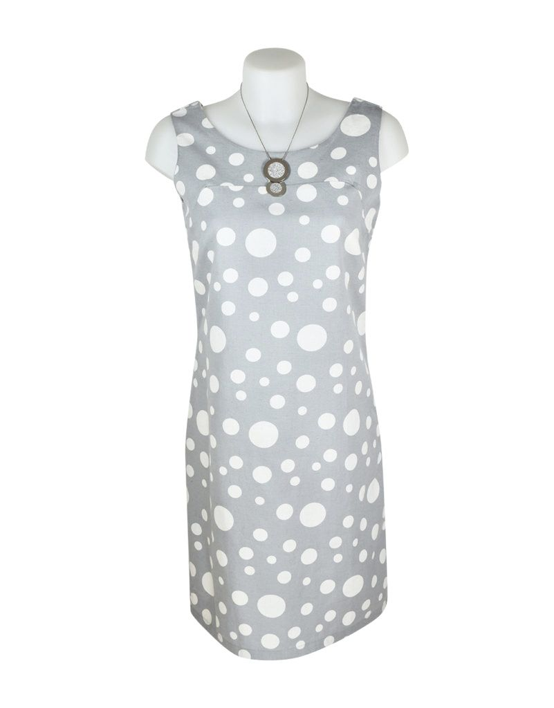 Alice Collins Molly Dress Dot Steel 14 L