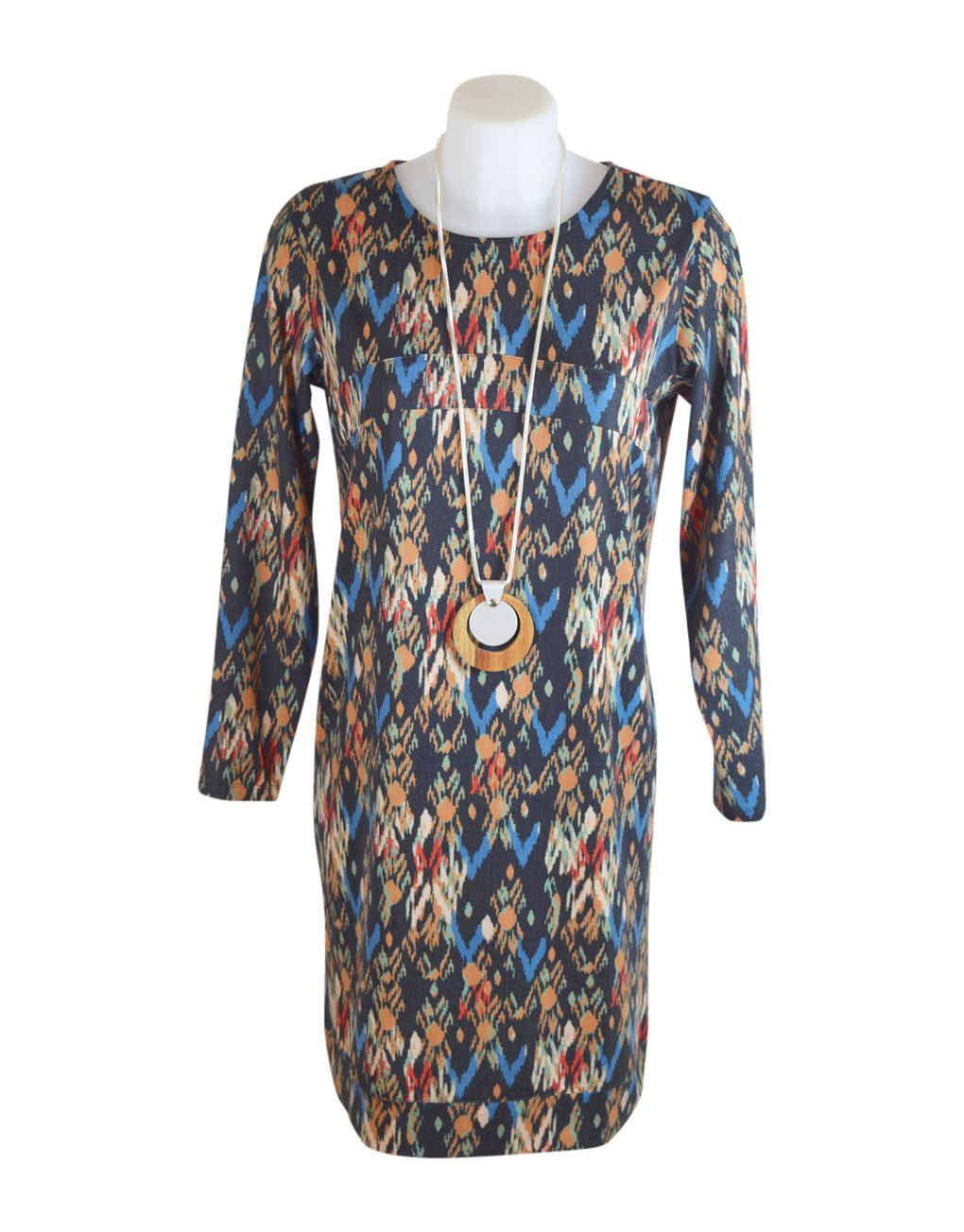 Alice Collins Flora Chevron Tunic Dress 14 L