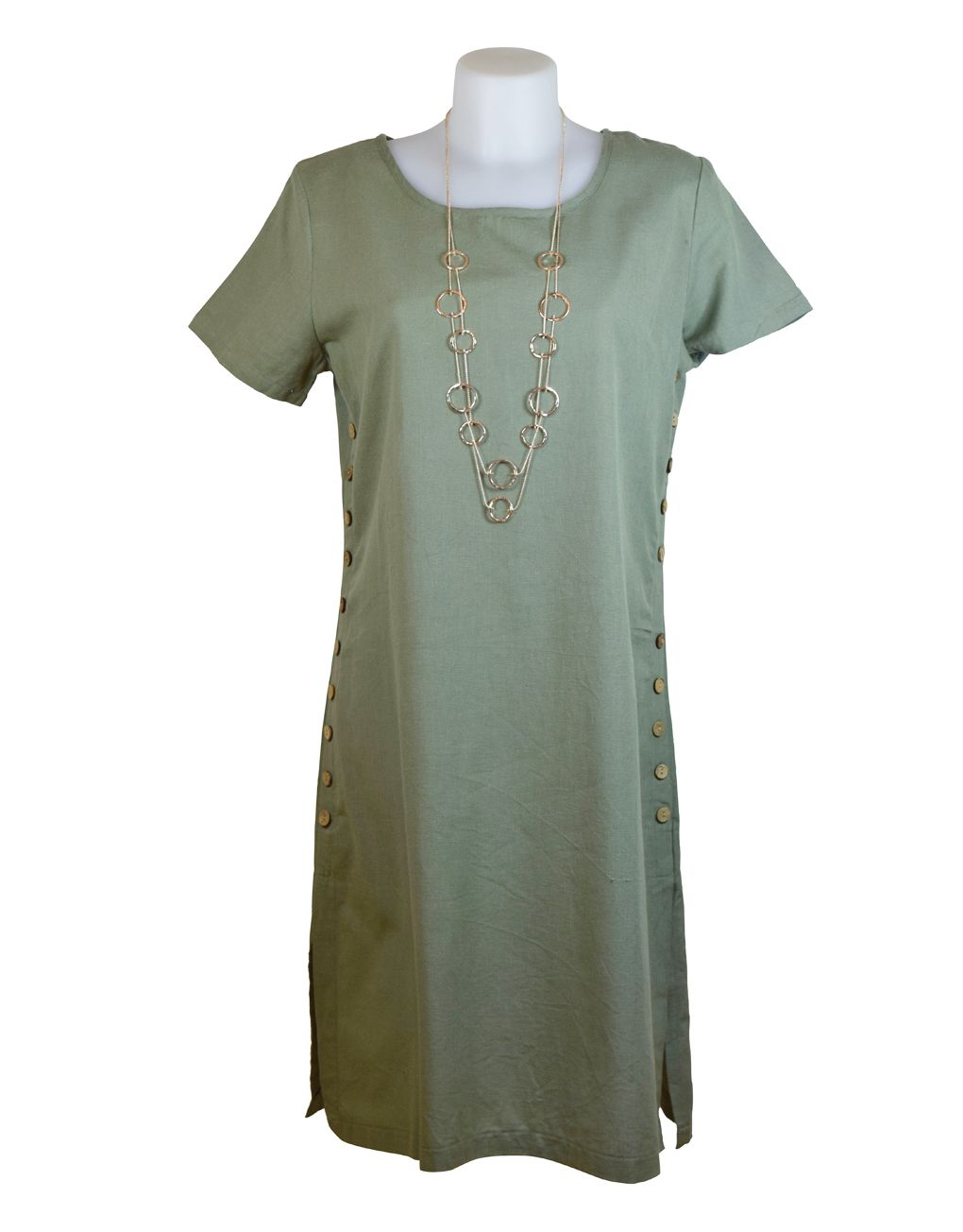 Alice Collins Kylie Dress Vetiver Khaki 10 S