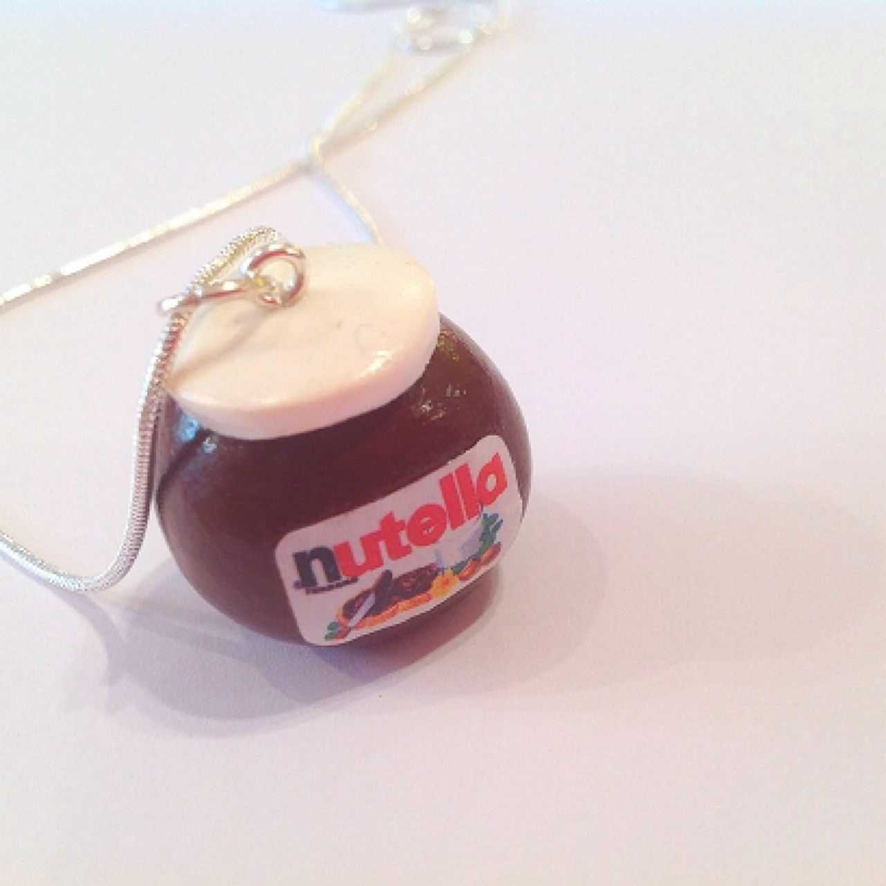 Handmade Nutella Jar Chocolate Spread Pendant Necklace - Perfect Chocolate Lover Gift! FREE Gift Bag