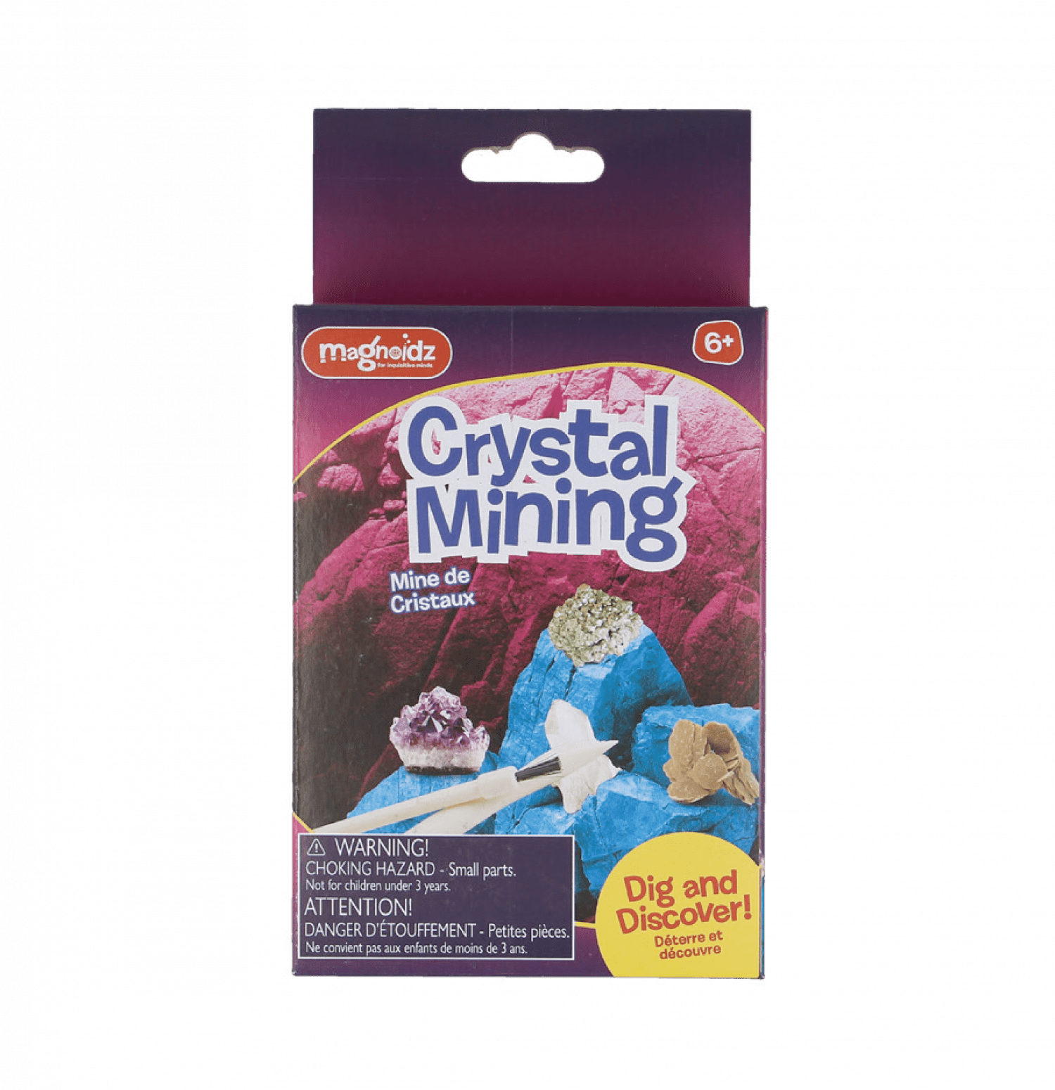 Dig & Discover Crystal Mining Kit by Magnoidz