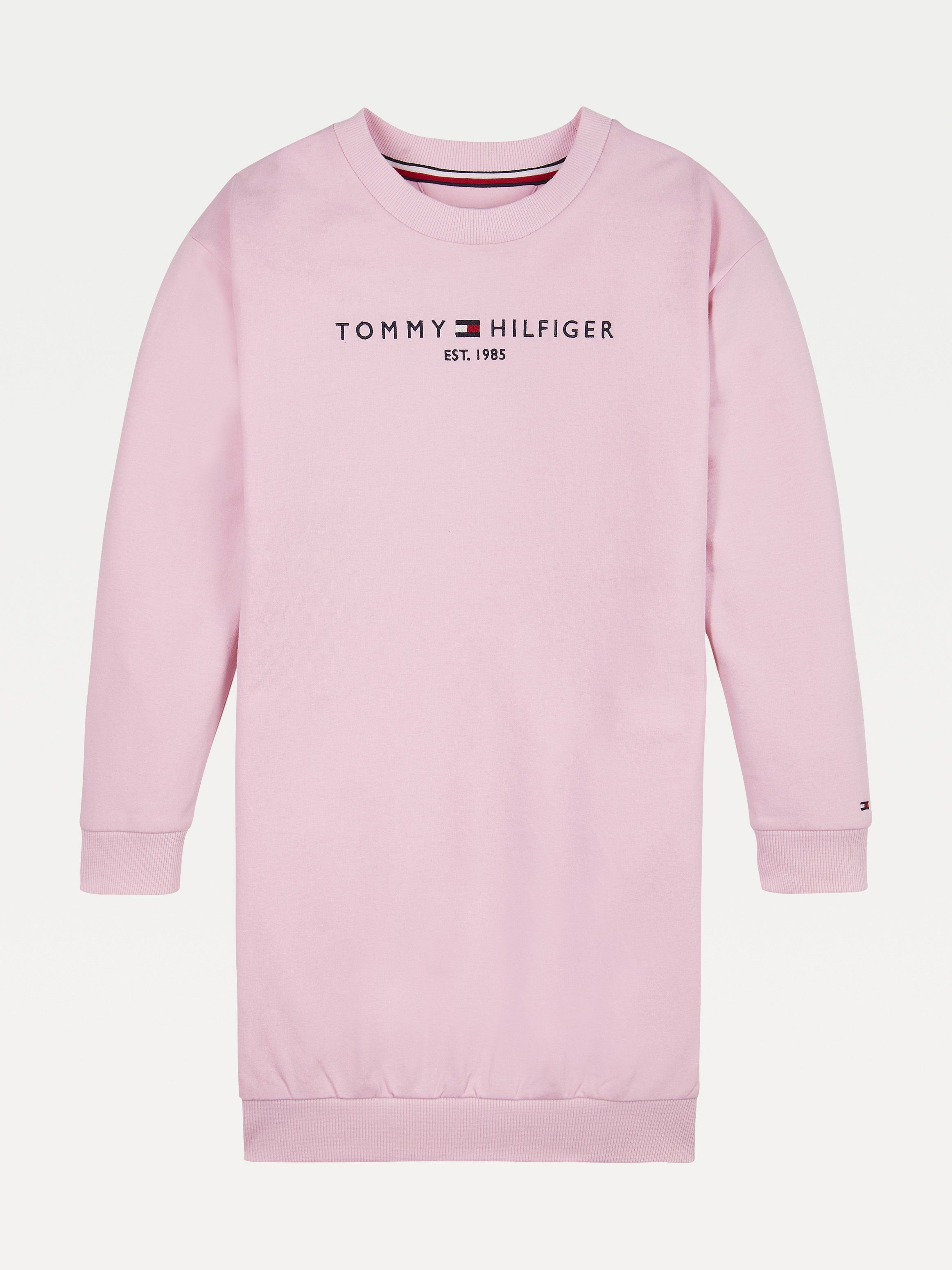 PRE-ORDER Tommy Pink Logo Sweat Dress 6YEARS