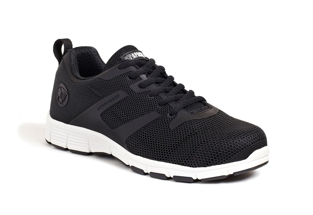 Apache Black Mesh Safety Trainer. Aluminium Toe Cap - Vault Black - 6