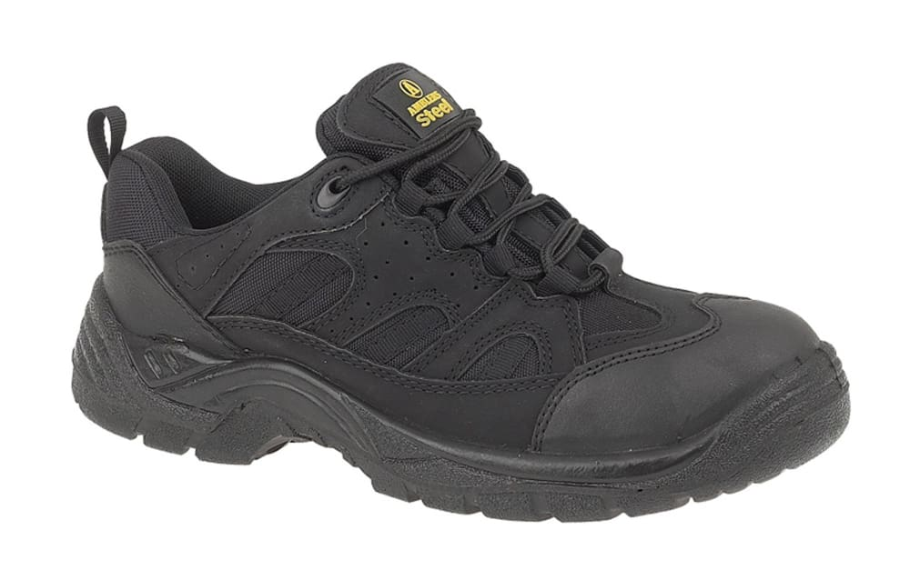 Amblers FS214 Vegan Friendly Black Safety Trainer - SBP Steel Toe+Midsole  FS214 Black - 4