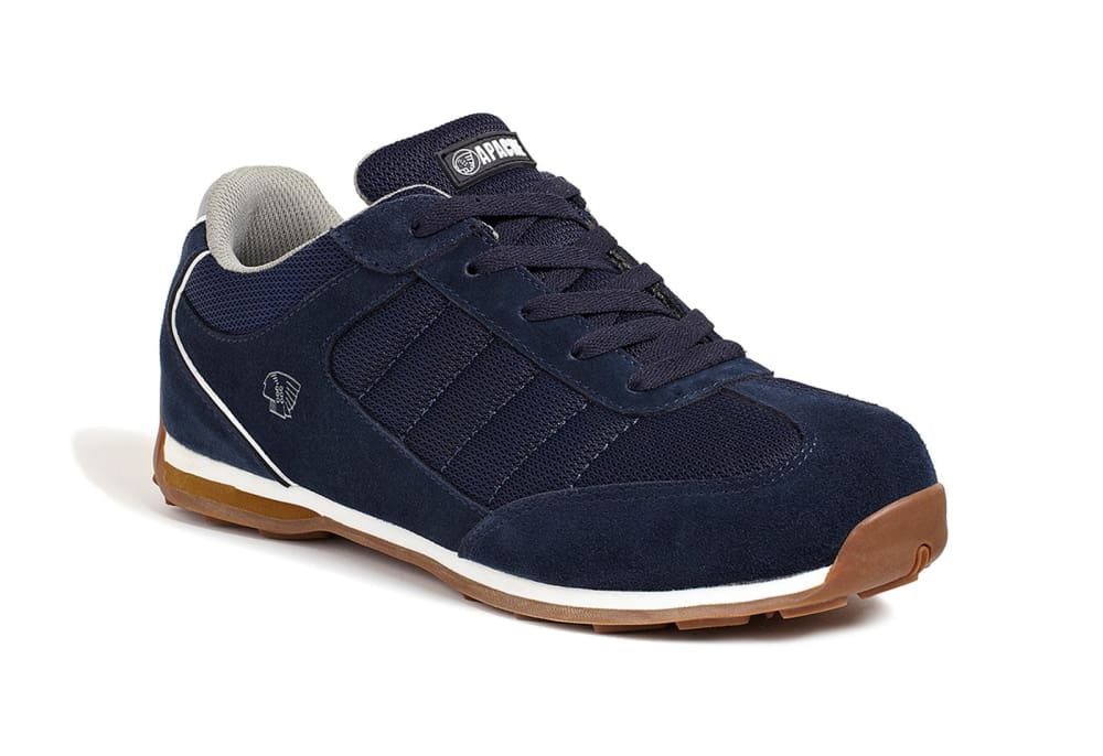 Apache Strike Retro Safety Trainer Steel Toe + M Sole Moisture Wicking Lining. SBP SRA - .. Navy - 6