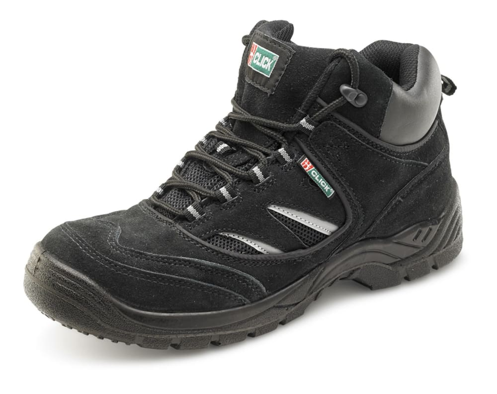 Click Dual Density Safety Trainer Boot Steel Toe and Midsole S1P Src - Cddtbb BLACK - 3