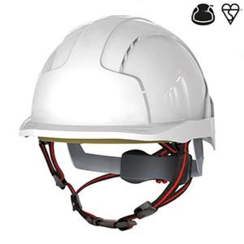 JSP EVOLite Skyworker Industrial Working At Height Safety Helmet Side Impact Protection White