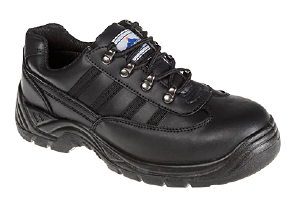 Portwest S1 Safety Trainer Steel Toecap- FW15 Black - 38