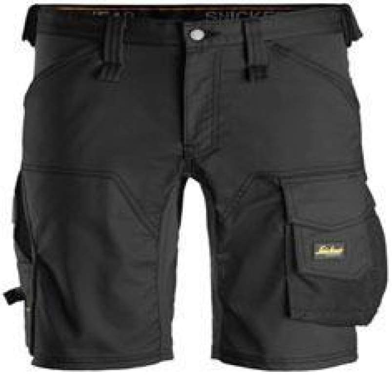 Snickers AllRound Work Stretch Shorts - 6143 Black - Regular 48 (Up to W32 x L31)