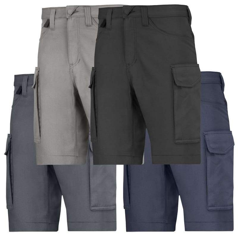 Snickers Workwear Dirt Repellent Work Shorts with Multipockets - 6100 Black - Reg 44 (W30)