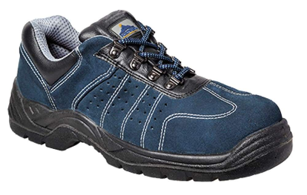 Steelite Safety Hot Weather Trainer S1P Perforated Trainer Steel toe and Midsole  - FW02 Blue - 40