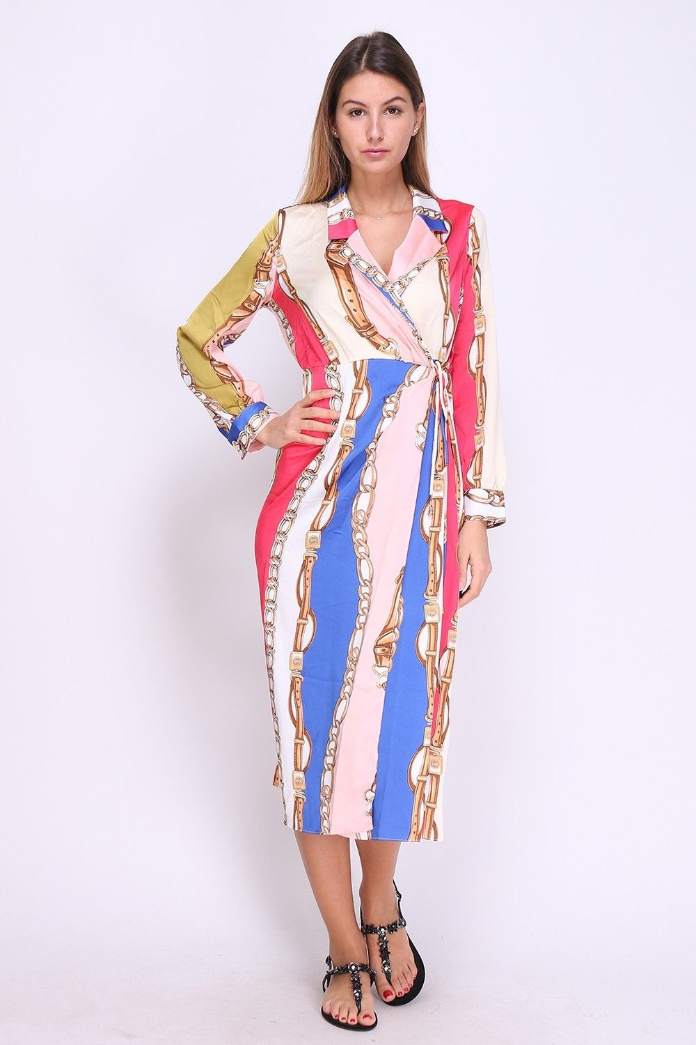 Multicolour Chain Print Dress | Various Sizes Large