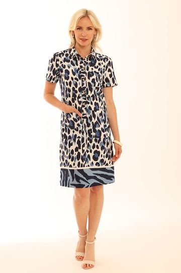 Zebra Border Safari Dress from Pomodoro