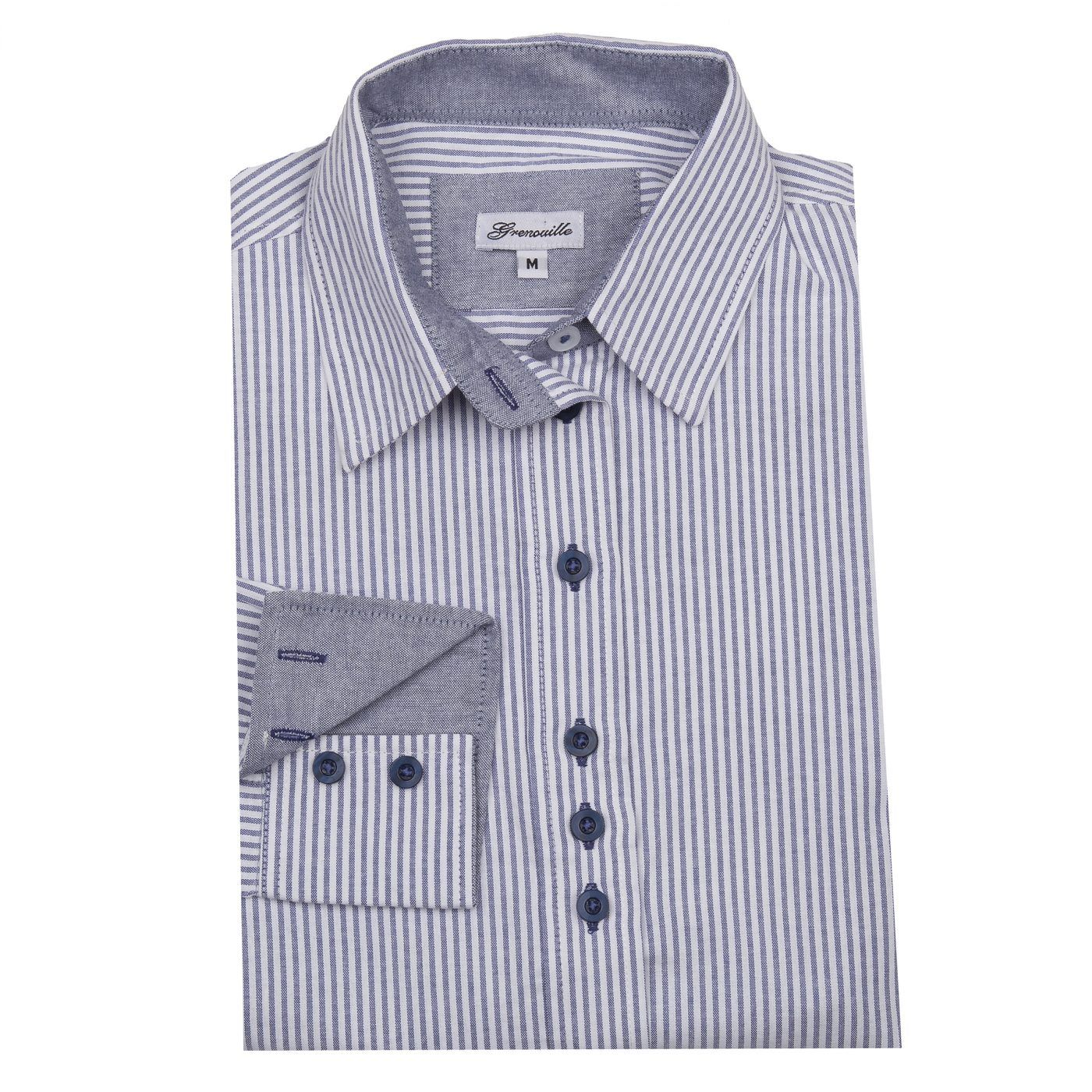 Oxford Shirt with Pale Blue Stripe
