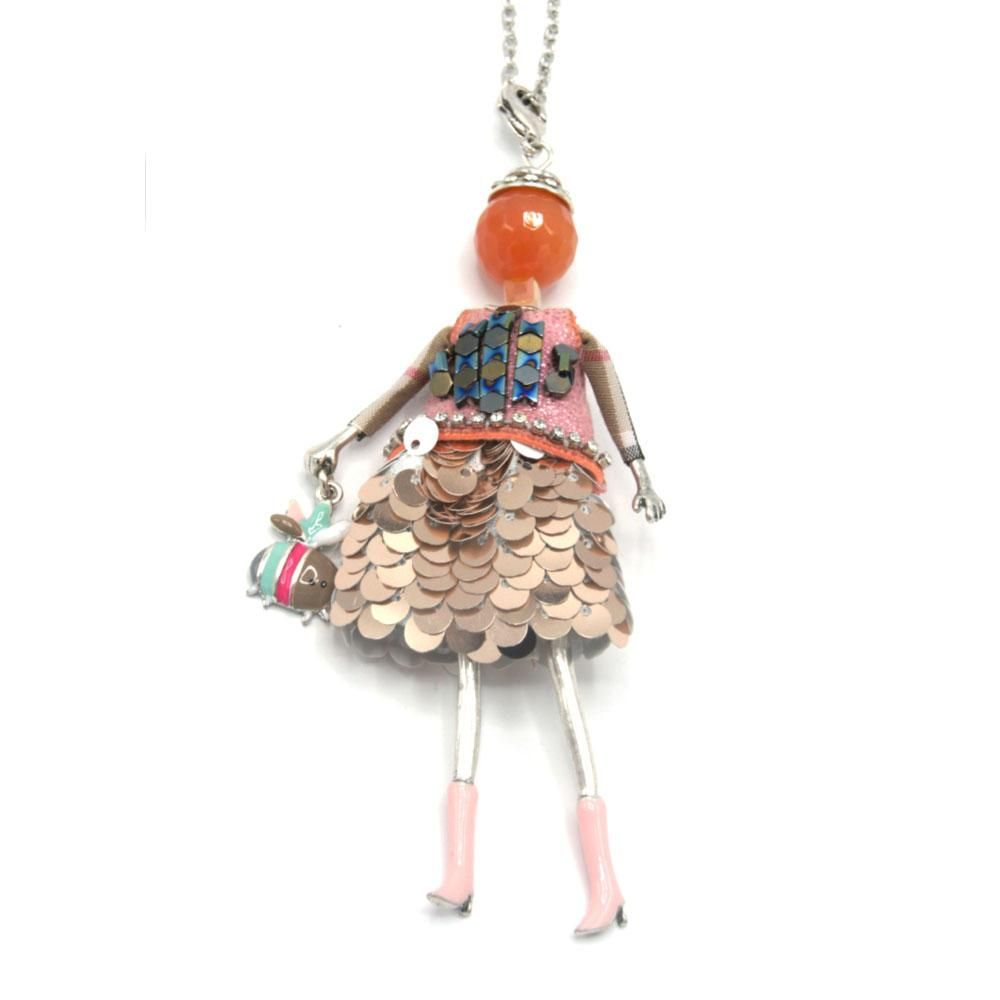 Alicia French Doll Long Necklace
