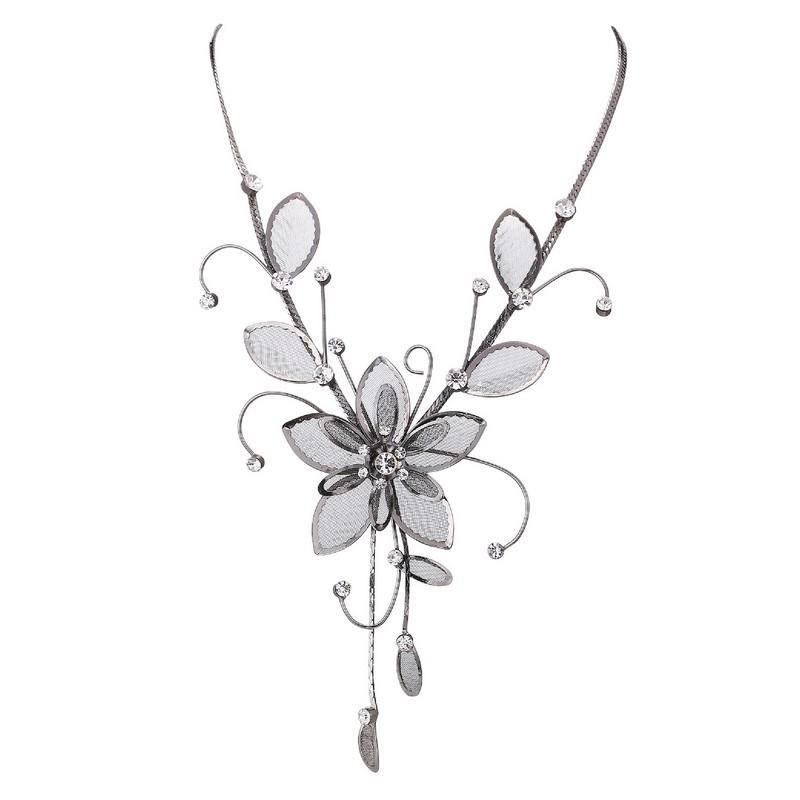 Glorious Necklace - Silver & White