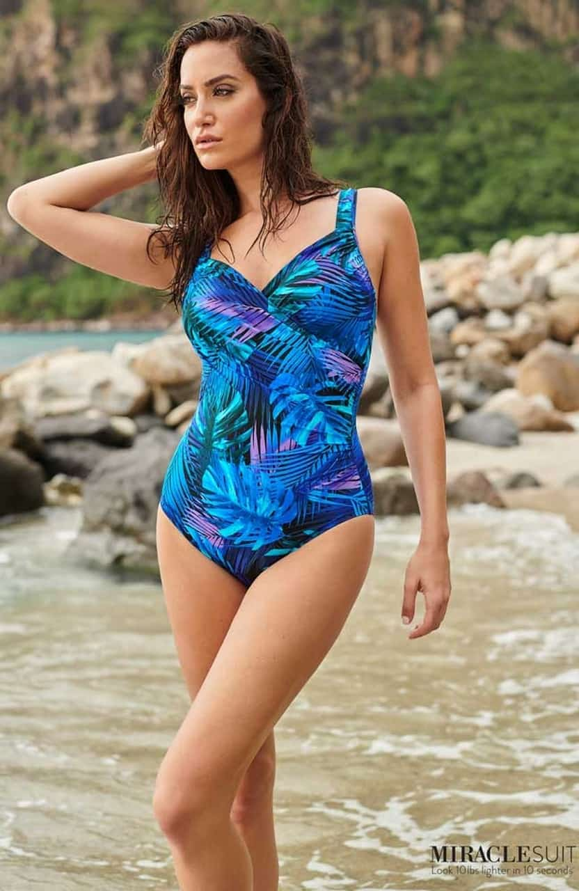 Miraclesuit Royal Palms Seraphina Swimsuit in Blue 14