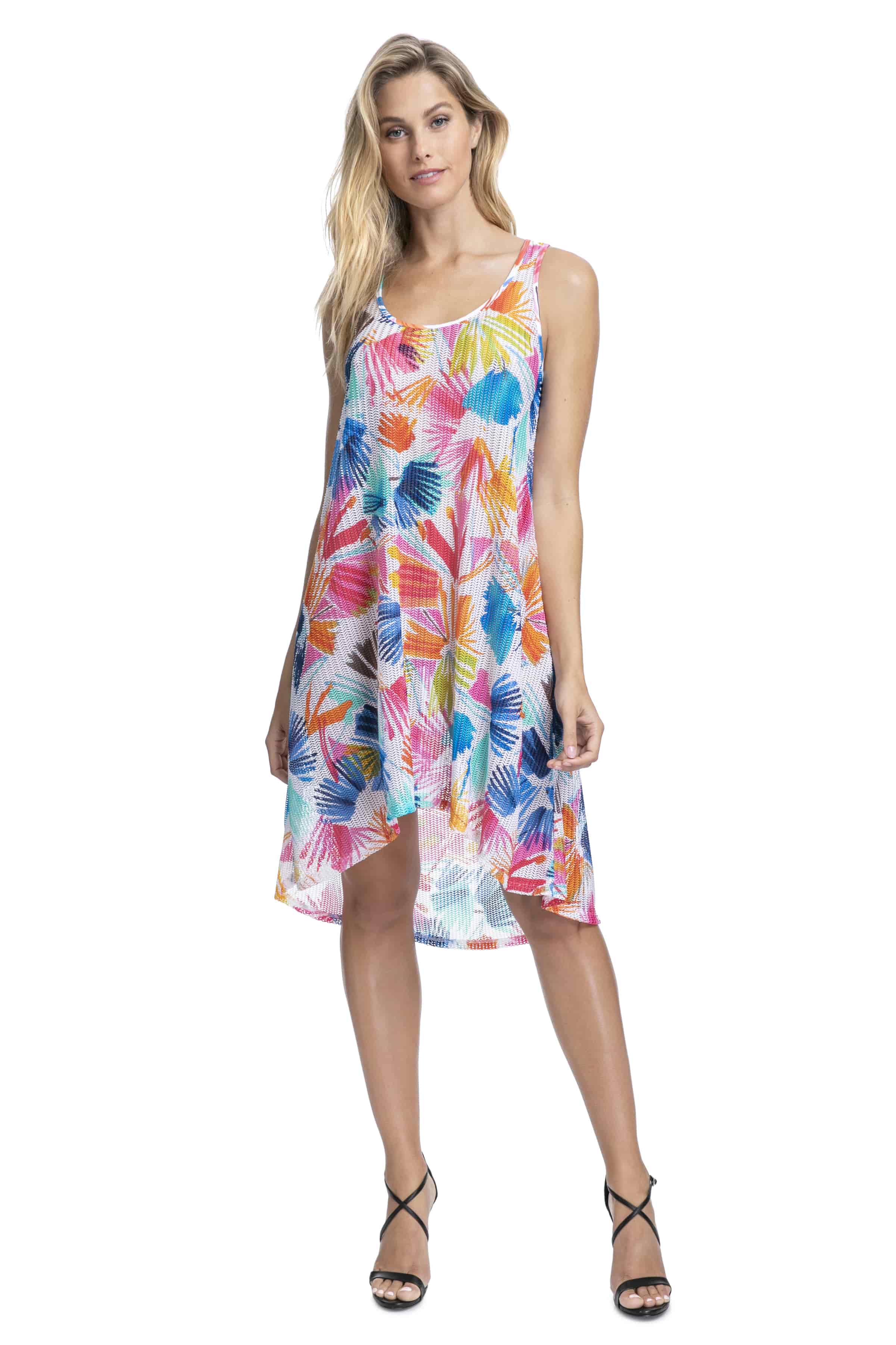 Gottex Profile Splash Mesh Dress in Multi m