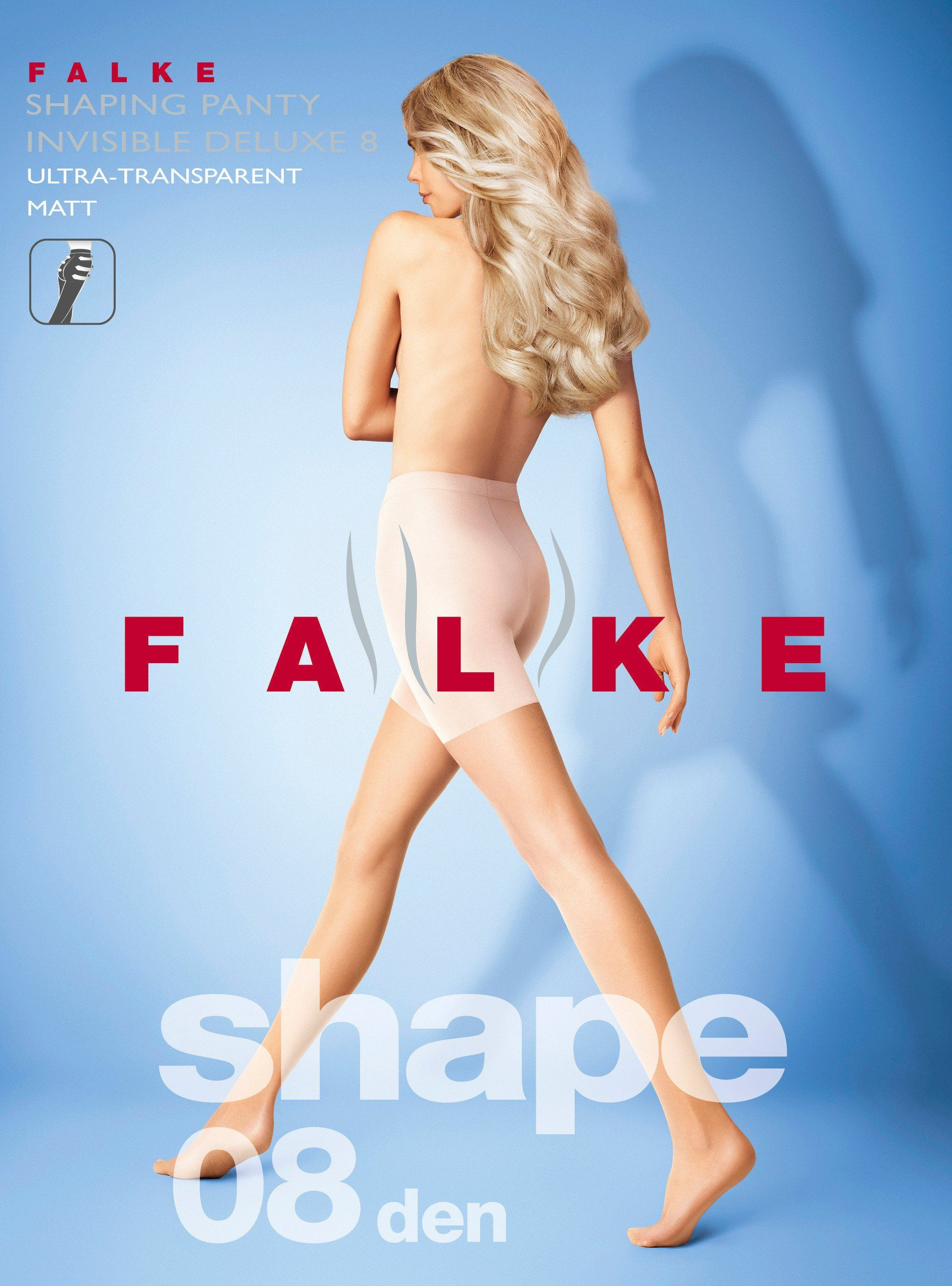 Falke Invisible Deluxe Shaping 8 DEN Tights in Black l
