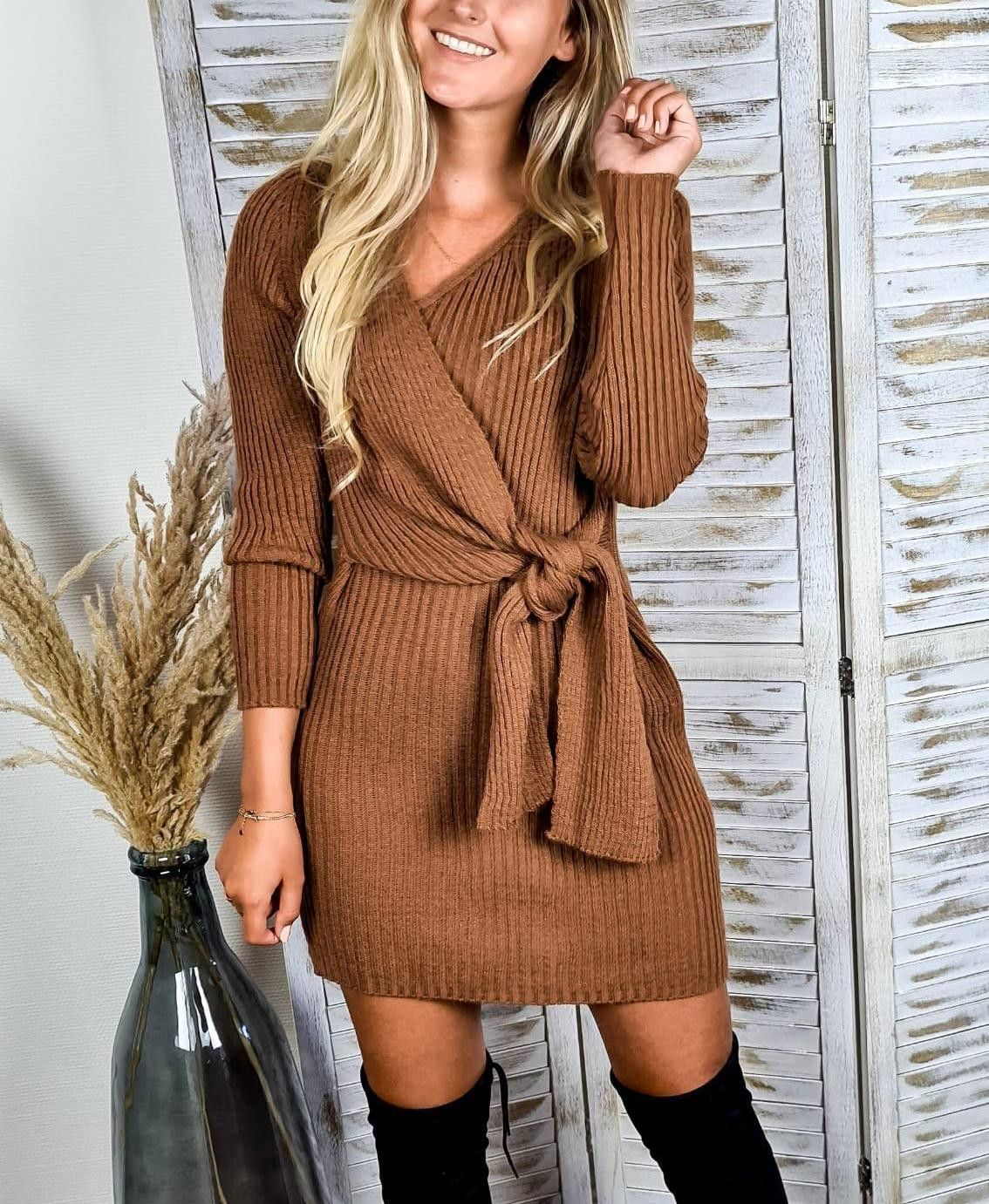 Knitted Wrap Dress | One Size