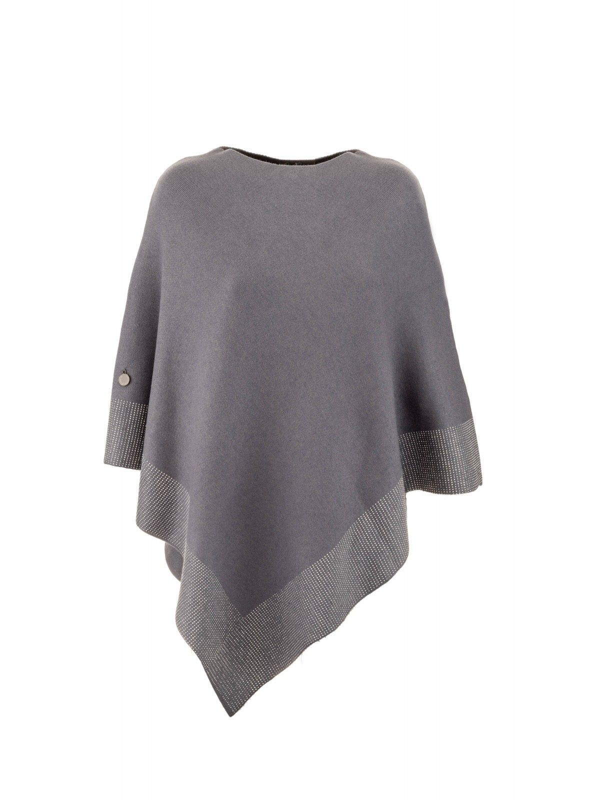 Luxe Crystalised Poncho | Black or Grey Cream