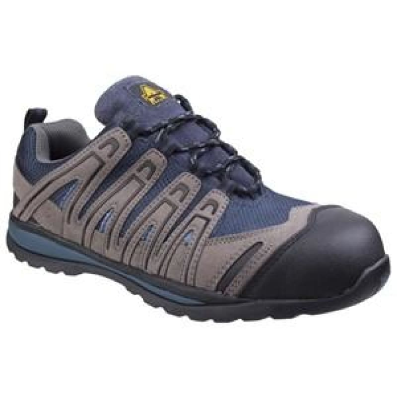 Amblers FS34C Metal Free Lightweight Lace up Safety Trainer - 20712 Blue - 4