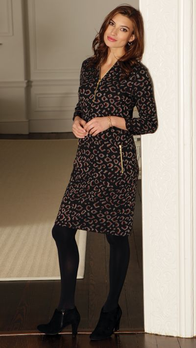 Leopard Jacquard Dress from Pomodoro